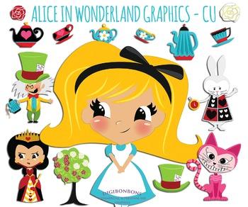 SALE- Alice in Wonderland Clip Art