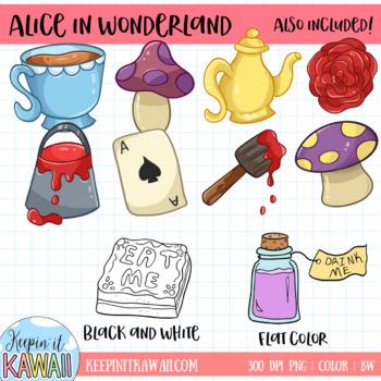 Alice in Wonderland Clip Art Collection