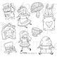 Alice in Wonderland Clip Art, Tea Party Digital Stamps