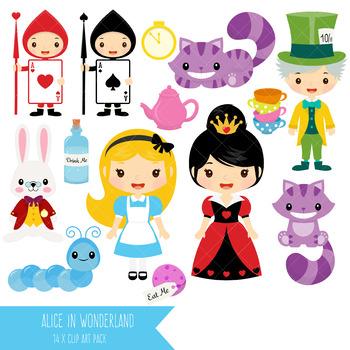 Alice in Wonderland Clip Art