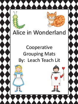 Alice in Wonderland Cooperative Grouping Mats