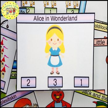 Alice in Wonderland Count and Clip Task Cards