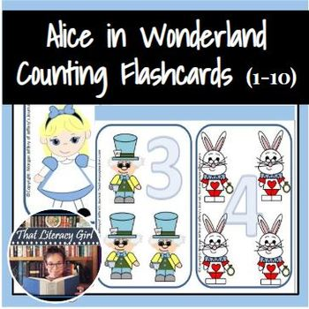 Alice in Wonderland Counting Flash Cards