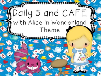 Alice in Wonderland Daily 5 and CAFE Poster Set
