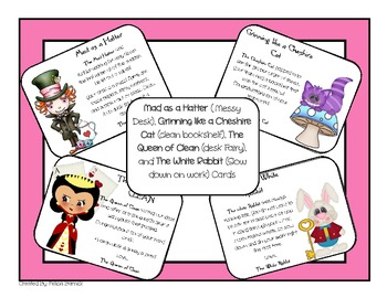 Alice in Wonderland Desk Fairy Cards