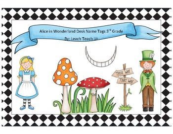 Alice in Wonderland Desk Tags 3rd Grade