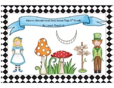 Alice in Wonderland Desk Tags 3rd Grade