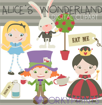 Alice in Wonderland Digital Clip Art