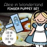 Alice in Wonderland Fairy Tale Finger Puppet Retelling Set