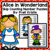 Alice in Wonderland (Fairy Tales) Skip Counting Number Puzzles