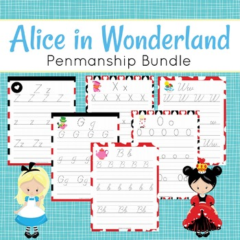 Alice in Wonderland Handwriting Penmanship Bundle