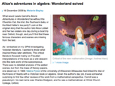 Alice's Adventures in Algebra: Article Intro to Imaginary Numbers!