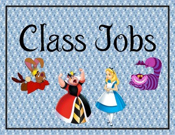 Alice in Wonderland Job Chart