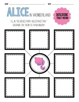 10 Disney Inspired Alice in Wonderland Literacy Centers