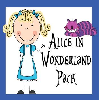 Alice in Wonderland Literature Based Pack (Special Ed, Preschool, Kindergarten)