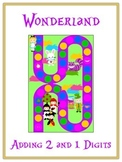 Alice in Wonderland Math Folder Game - Common Core - Adding 2 & 1 Digit Numbers
