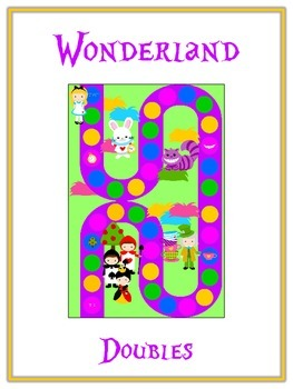 Alice in Wonderland Math Folder Game - Common Core - Adding Doubles