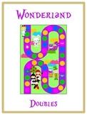 Alice in Wonderland Math Folder Game - Common Core - Adding Doubles