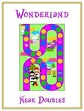Alice in Wonderland Math Folder Game - Common Core - Adding Near Doubles