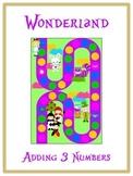 Alice in Wonderland Math Folder Game - Common Core - Adding Three 3 Numbers