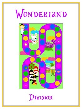 Alice in Wonderland Math Folder Game - Common Core - Division - Dividing Numbers