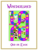 Alice in Wonderland Math Folder Game - Common Core - Even and Odd Numbers