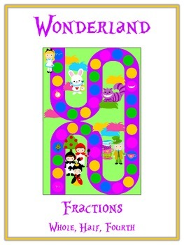 Alice in Wonderland Math Folder Game - Common Core - Fractions