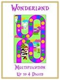 Alice in Wonderland Math Folder Game - Common Core Multiplication 1 2 3 4 Digits