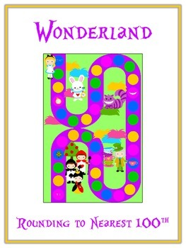 Alice in Wonderland Math Folder Game - Common Core - Rounding to Nearest 100th