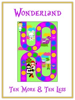 Alice in Wonderland Math Folder Game - Common Core - Ten More and Ten Less
