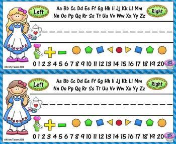 Alice in Wonderland Name Plates