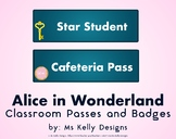 Alice in Wonderland Passes and Badges