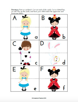 Alice in Wonderland Inspired Early Learning Pack
