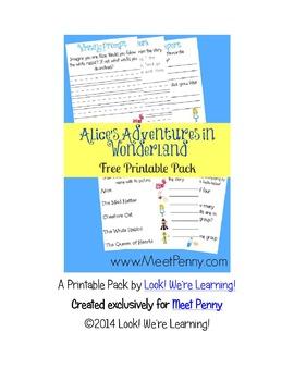 Alice in Wonderland Printable Pack