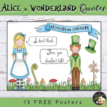 Alice In Wonderland Quotes Freebie By Mrs Recht S Virtual Classroom