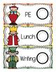 Alice in Wonderland Schedule Cards Decor Set
