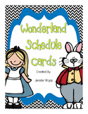Alice in Wonderland Schedule Cards Decor Set