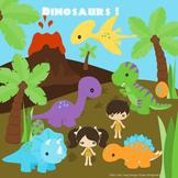 Dinosaurs digital clip art, clipart
