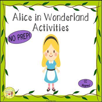 Alice in Wonderland Worksheets Activities Games Printables