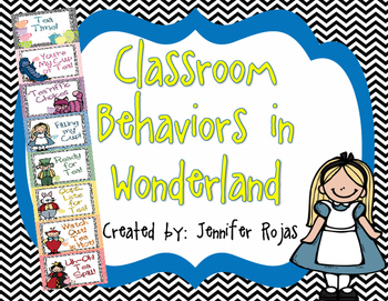 Alice in Wonderland Themed Behavior Clipchart
