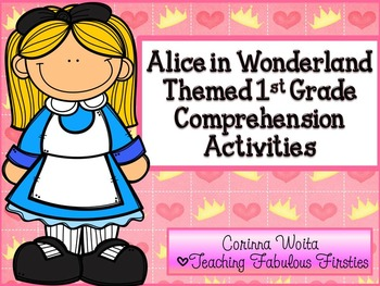 Alice in Wonderland Themed Comprehension Activities for Fi