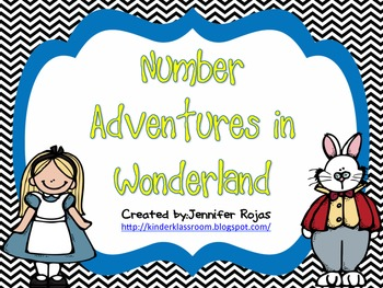 Alice in Wonderland Themed Number Posters 0-20