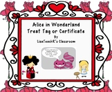 Alice in Wonderland: Treat tags or certificates