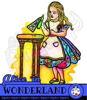Alice in Wonderland Vibrant Ink Illustrations