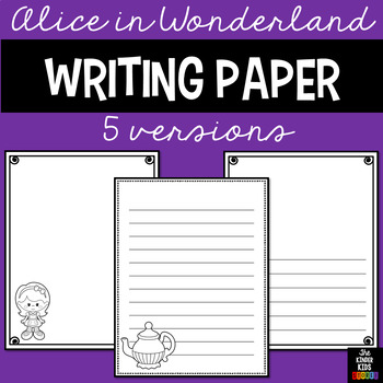 Alice in Wonderland Writing Pages