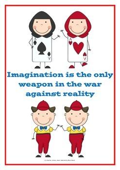 Alice in Wonderland classroom posters