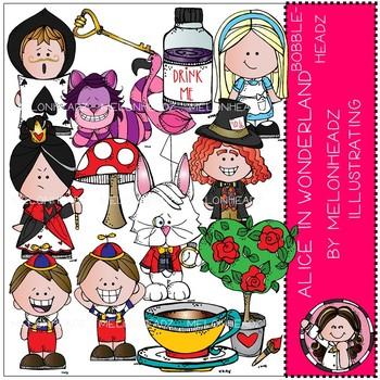 Alice in Wonderland clip art - Bobbleheadz - COMBO PACK - Melonheadz clipart