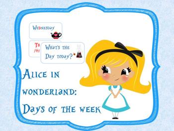 "Alice in Wonderland ""days of the week"""