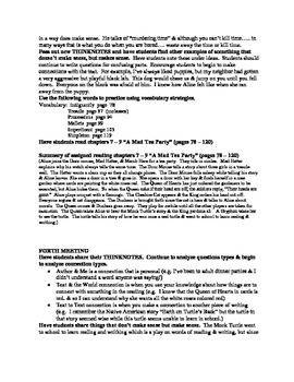 Alice in Wonderland guided reading plan