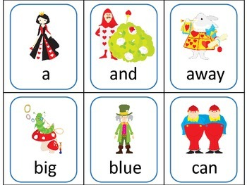 Alice in Wonderland inspired ELA Sight Word CENTER GAMES